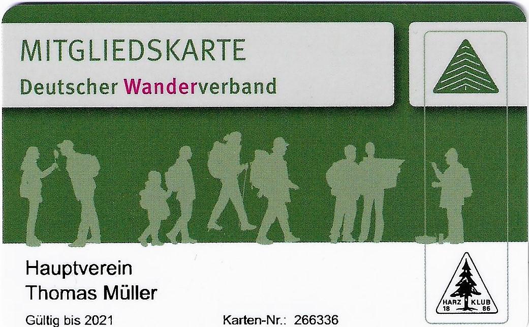 Mitglied Deutscher Wanderverband Zweigverein Schulenberg Harzklub